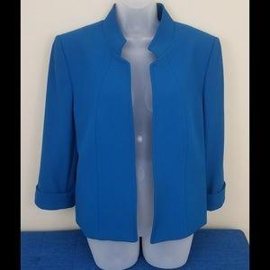 Tahari Blue Open Front Jacket, Size 14